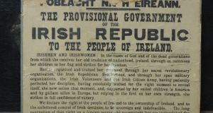 One of the estimated 25 original copies of the Proclamation still in private hands, this is for auction with an estimate of €100,000-€150,000