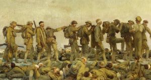 Walking wounded: Gassed, John Singer Sargent's painting of soldiers in the British army blinded and otherwise hurt by chlorine during the first World War. Photograph: IWM via Getty