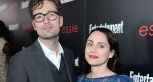 Karl Geary with his wife, actor Laura Fraser  in Los Angeles in 2014. Photograph:  Dimitrios Kambouris/Getty Images