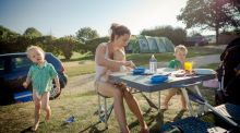 Children love the freedom of a campsite holiday, and they're usually very safe places too. Photograph: Jason Swain via Getty Images