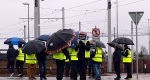 Luas Strikers photographed at the Luas Depot in Sandyford, Dublin. Picture Nick Bradshaw