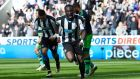 Moussa Sissoko scored Newcastle's second in their vital win over Swansea City. Photograph: Getty