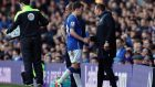 Séamus Coleman was forced off during Everton's 1-1 draw with Southampton. Photograph: Getty