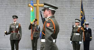 Members of the Graveside Honour Guard drawn from the 91st Cadet Class during the 1916 Leaders Commemoration Ceremony at the Arbour Hill Cemetery last year. File photograph: Alan Betson / The Irish Times