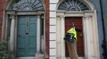 Census enumerator Ciaran Lynam in the Gardiner Street area of Dublin. Census 2016 takes place on April 24th and forms are being distributed now. Photograph: Nick Bradshaw