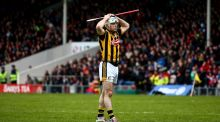 Kilkenny's Jonjo Farrell dejected at the final whistle. Photo: James Crombie/Inpho