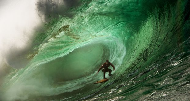 tom butler catches a wave at mullaghmore head on october 27th photograph