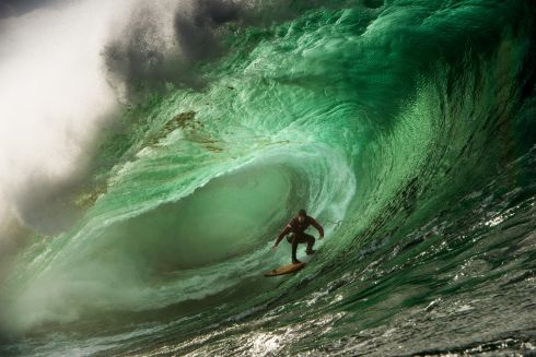 Tom Butler catches a wave at Mullaghmore Head, October 27th 2015 - the photograph by Ian Mitchinson has been nominated for the Big Wave Awards in LA on April 23rd.