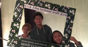 Marie, Louis and Layla Carroll at the opening of the Film Ireland festival in Hong Kong.