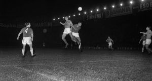 Yugoslavia against the Soviet Union in the 1960 European Nations' Cup final.Yugoslavia reached the final by virtue of a thrilling 5-4 win over hosts France in the semi-finals. Photograph: Getty