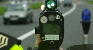 The Road Traffic Act 2010 prohibits the application of the poor box to offences that attract penalty points, including speeding, from June 1st, 2011. Photograph: The Irish Times