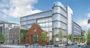 Architect's impression of the new 1SJRQ building at 1-6 Sir John Rogerson's Quay on Dublin's south docks