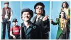 From left, Robbie O'Connor and Darragh Kelly; Richard Clements and Eleanor Methven; and Charlotte McCurry and Ali White in Northern Star. Photographs: Keith Dixon