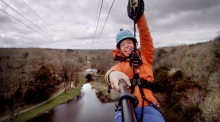 Up, up and away: sneak peek at longest over-water zipline in Ireland