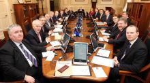 "The Fine Gael-Labour cabinet meets shortly after the 2011 election: ""In 2011, the formation of a new government was urgent and crisis-driven . . . But the current, unprecedented delay in forming a government is due not just to the absence of a crisis."" Photograph: Maxwells"