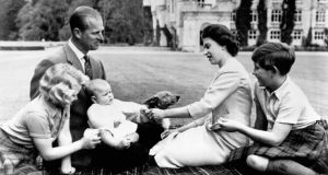 Queen Elizabeth II with her family at Balmoral in 1960. File photograph: PA Wire