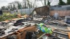 Glenamuck Road halting site where 10 people died in a fire in October 2015. Photograph: Brenda Fitzsimons/The Irish Times