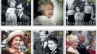 This Handout image released by the Royal Mail  shows six stamps issued to mark the 90th birthday of Queen Elizabeth II including images of Queen Elizabeth II: with her father; attending the State Opening of Parliament in 2012; with Princess Anne and Prince Charles in 1952; visiting New Zealand in 1977; with The Duke of Edinburgh in 1957; and with Nelson Mandela in 1996. Photograph: Royal Mail/Getty Images