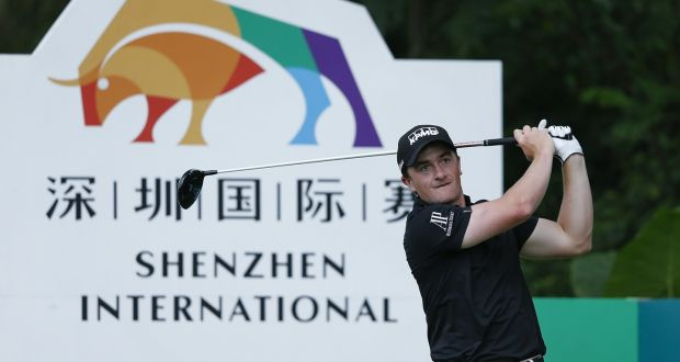 Paul Dunne shot an opening round 68 at the Shenzhen International. Photograph: Getty