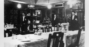 The diningroom at Jammet's, which was open in Dublin from 1901 to 1967; first at premises on Andrew Street, until 1926, and then on Nassau Street