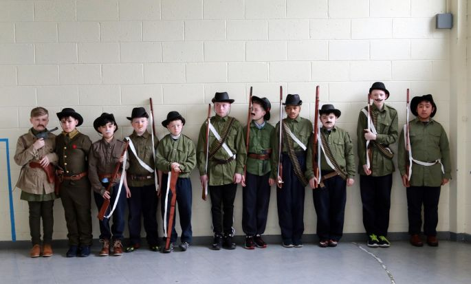 5ft rebels storm the GPO with wooden rifles and funny moustaches