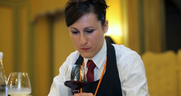Julie Dupouy, Best Sommelier in Ireland, and newly crowned third-best sommelier in the world. Photograph: Irish Guild of  Sommeliers