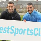 Ireland rugby internationals: Dave and Rob Kearney, National Dairy Council brand ambassadors, at the launch of the Irish Times Best Sports Club in Ireland comptition.  Photograph: Eric Luke