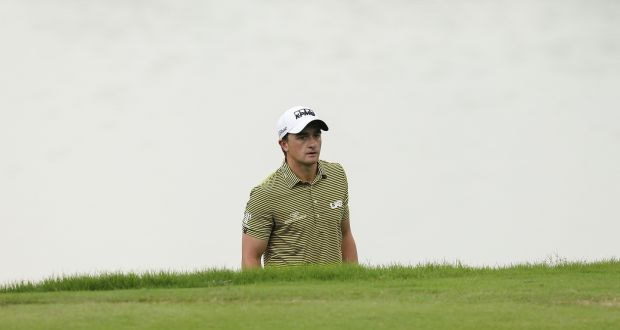 Paul Dunne is tied for third after two days of the Shenzhen International. Photograph: Getty
