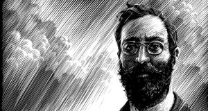 Easter 1916: part of David Rooney's illustration of Francis Sheehy-Skeffington