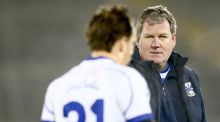Cavan manager Terry Hyland with experienced forward Seanie Johnston who has returned to duty with his native county.  Photograph: James Crombie/inpho