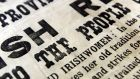 Detail of the proclamation from 1916 from the Trinity College Exhibition. Photograph: Cyril Byrne /The Irish Times