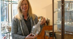 "Joy Danker in her shop at the Royal Hibernian Way in Dublin: ""My personal interest is in Irish Celtic revival silver"""