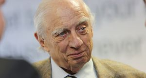 "Peter Sutherland: It would be ""profoundly misplaced"" for Ireland to review its own EU membership if Britain votes to leave. Photograph: Gary O'Neill"