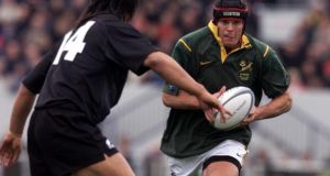 Johan Erasmus during his playing days with South Africa. He has been confirmed as Munster's new director of rugby on a three-year-deal. Photograph: Getty