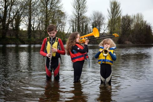 OPERATION MAYDAY: Siblings Jamie (12), Faye (10), and Max Clancy (7) launch Operation Mayday, which takes place from May 20th-22nd to raise awareness and funds for the migration crisis. The events take place in Mallow and Fermoy and include kayaking, an awareness exhibition, music and informative talks. Photograph: Clare Keogh