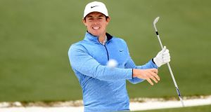 "Rory McIlroy at the US Masters this month. ""It will be great to be part of the centennial edition of the French Open."" Photograph: Harry How/Getty Images"