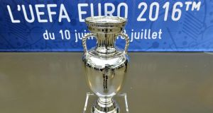 The trophy for Euro 2016. Figures released by the FAI show that 70,480 Irish fans made about 275,000 ticket applications for the Republic of Ireland's three group games against Sweden, Belgium and Italy in June