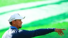 Tiger Woods has played his first holes of golf since August. Photograph: Getty