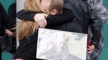 Hillsborough: Emotional scenes as families sing 'You'll Never Walk Alone'
