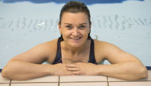 Every day is a school day for our swimmer Rachel Collins. Photograph: Dara Mac Donaill