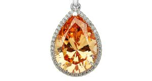 A pear diamond stimulant pendant for €79 from laurynrose.com