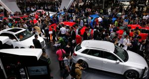 Huge crowds attend the press days of the Beijing auto show, particularly at the premium exhibits like Audi (above). The attendances will only increase as the public starts to attend.