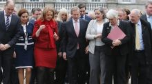 """So when our shiny new, rehydrated government salutes the press and public from the plinth of Leinster House soon, remember that they are not waving, but drowning."""