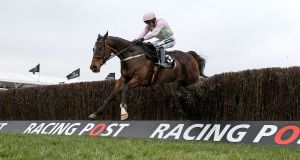 Douvan ridden by Ruby Walsh wins the Racing Post Arkle Trophy at Cheltenham earlier this year. Photograph: Dan Sheridan/Inpho