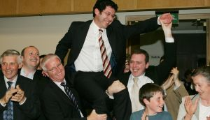 Ronan Mullen after his election to the  NUI Seanad in 2007. He toppued the poll in 2016 election. Photograph: Cyril Byrne.