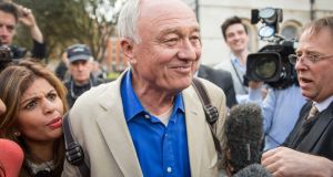 Ken Livingstone, who has been suspended from the Labour Party for comments made while defending Naz Shah – the suspended Labour MP – leaves Milbank Studios in London. Photograph: Rob Stothard/Getty Images