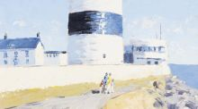 Detail of 'The Hook Lighthouse' by Ivan Sutton at Dolan's Art Auction House (€800-€1,200)