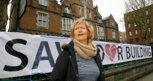 Una Heaton, curator of the Frank McCourt Museum, who is trying to buy the building. Photograph: Marie McCallan/Press 22