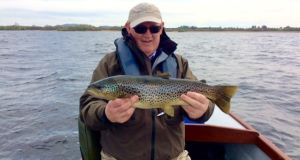 Danny Murray with his Lough Sheelin trout