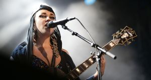 "Frontwoman Naomi ""Nai Palm"" Saalfield. Photograph: Mark Metcalfe/Getty Images"